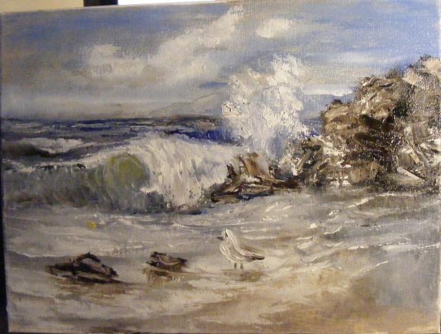 Picturi cu peisaje Mare inspumata