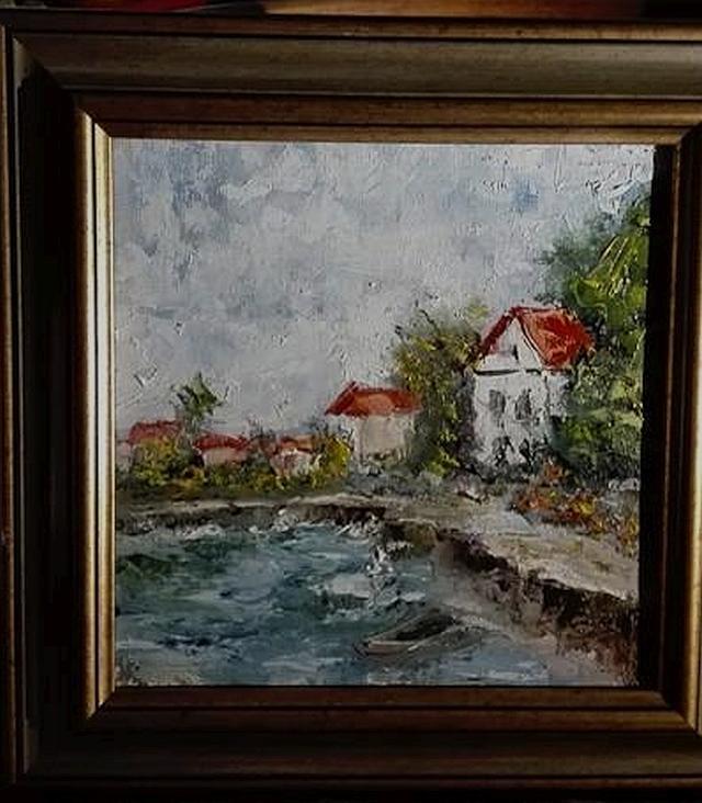 Picturi cu peisaje Satul de pescari