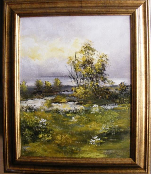Picturi cu peisaje Singuratic pe ape