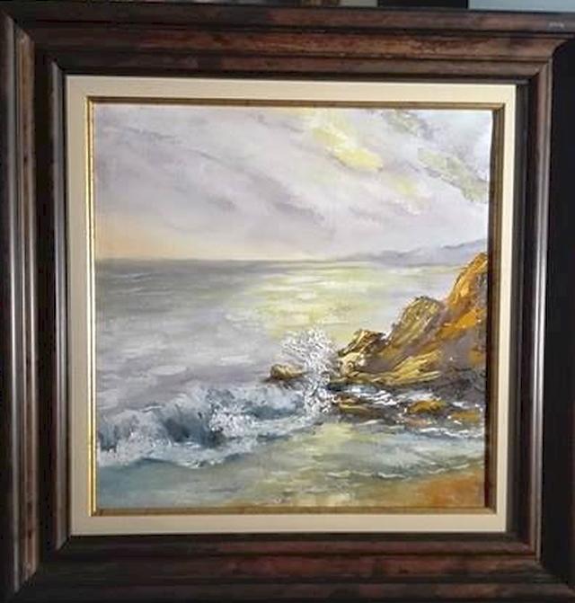 Picturi cu peisaje Stanci in apus