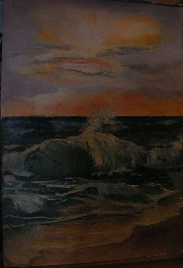 Picturi cu peisaje Studiu apus pe mare