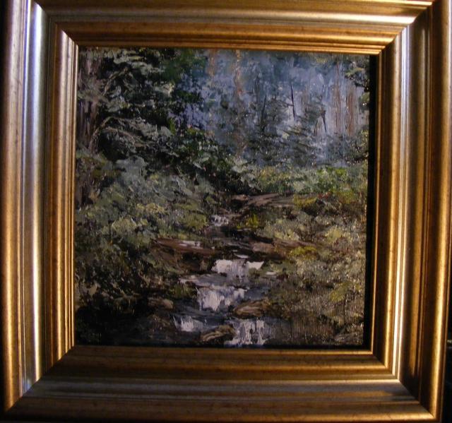 Picturi cu peisaje Susur ascuns in padure