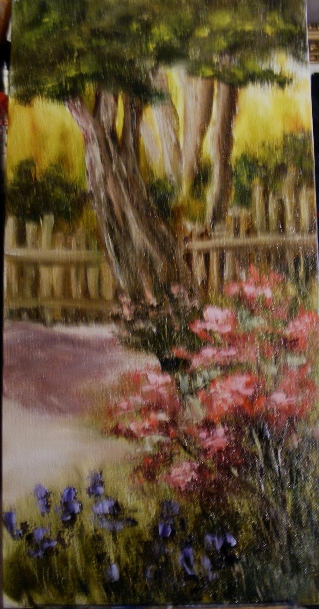 Picturi cu peisaje Un colt de gradina
