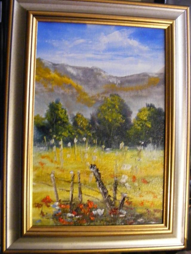Picturi cu peisaje Urme de gard