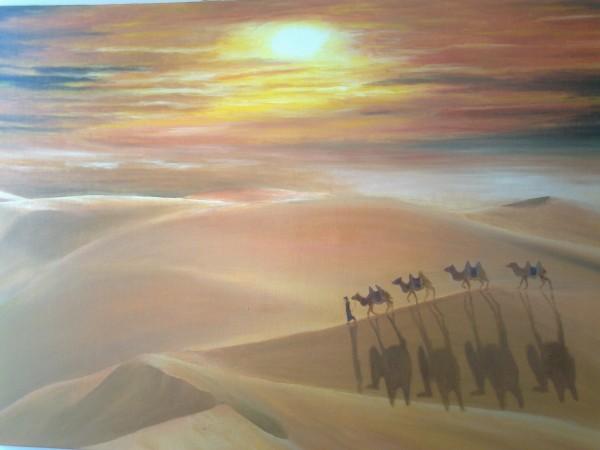 Picturi cu peisaje Tuareg