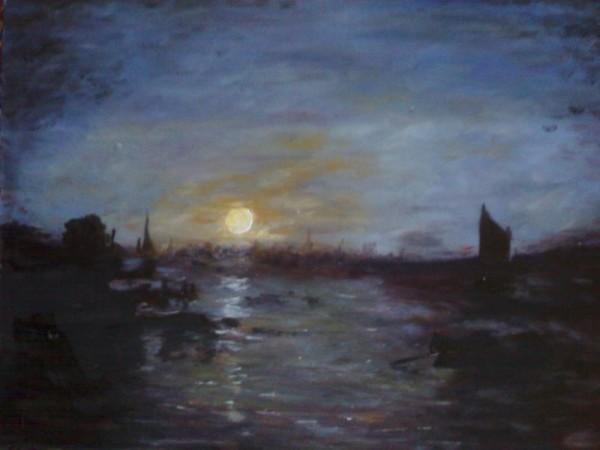 Picturi cu peisaje Luna