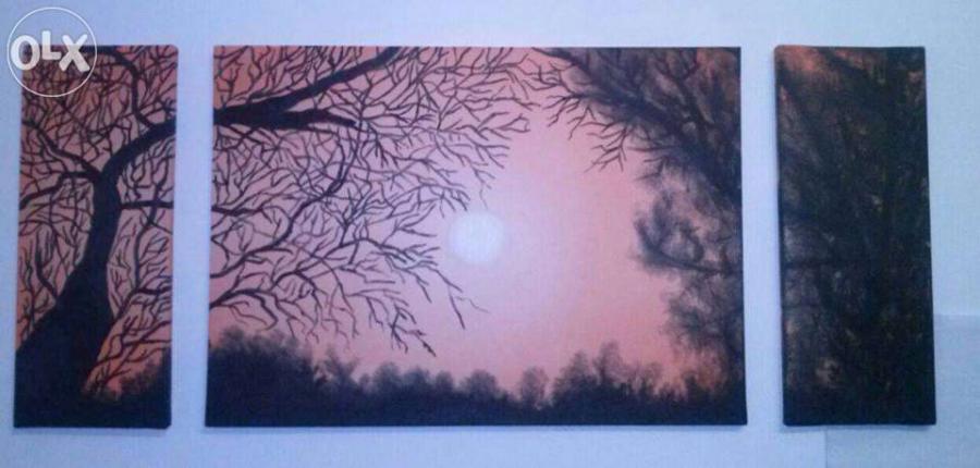 Picturi cu peisaje Apus de soare(Sunset)