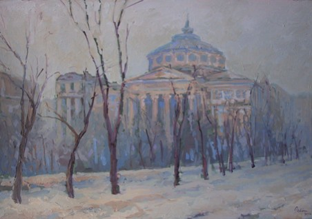 Picturi cu peisaje Bucurestiul vechi6