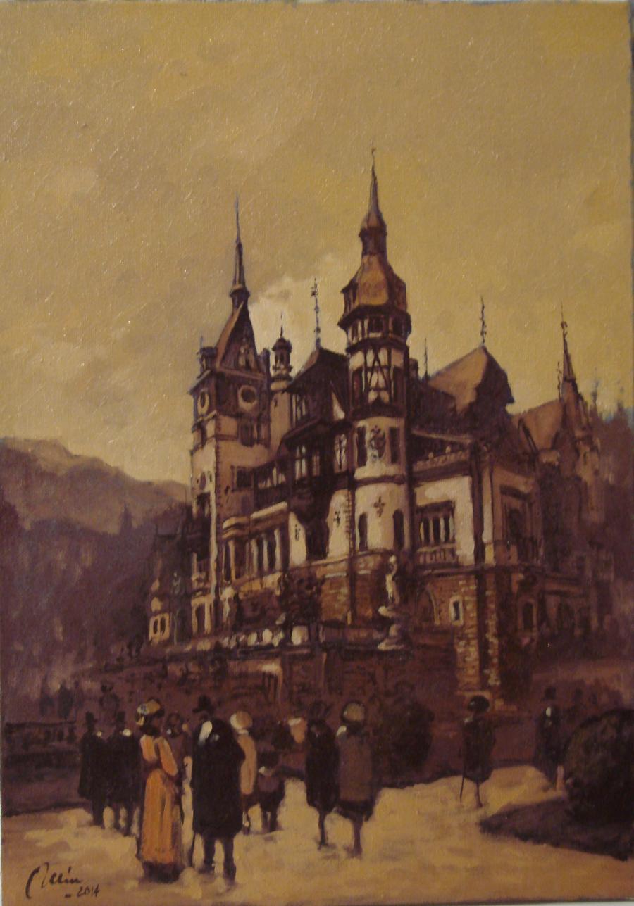 Picturi cu peisaje castelul peles, sinaia