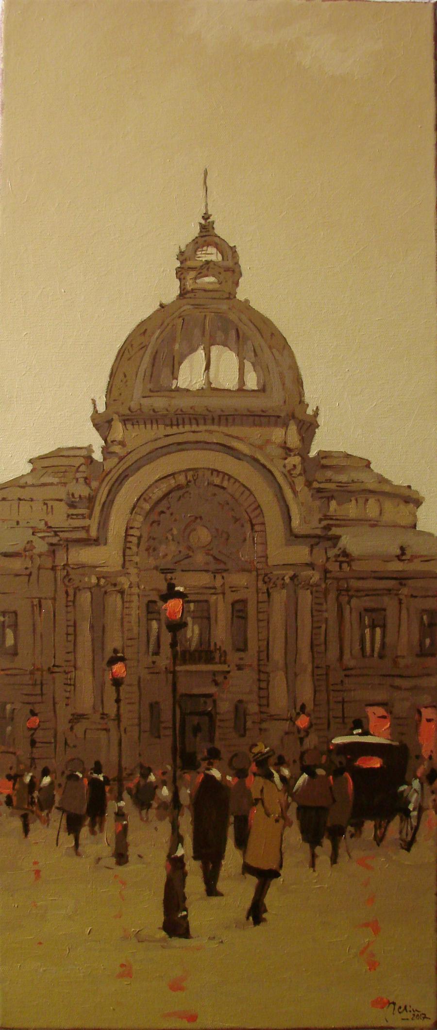 Picturi cu peisaje Palatul C.E.C.