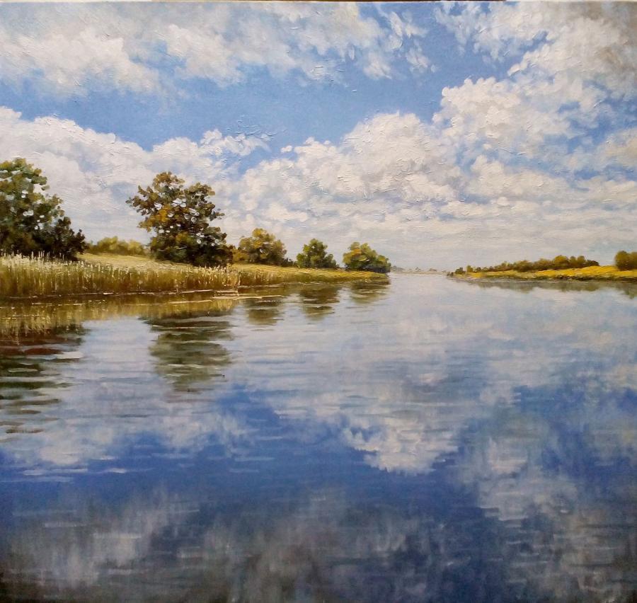Picturi cu peisaje delta b - 2016