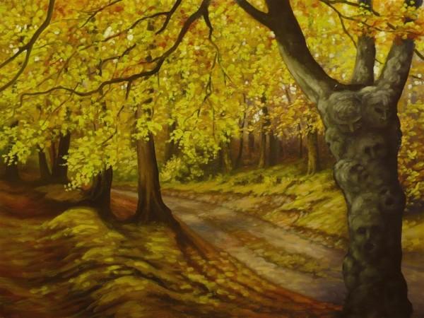 Picturi cu peisaje Padurea de poveste