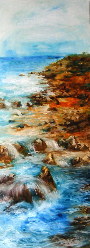 Picturi cu peisaje La marginea marii