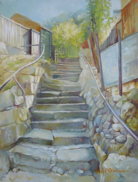 Picturi cu peisaje Pas cu pas