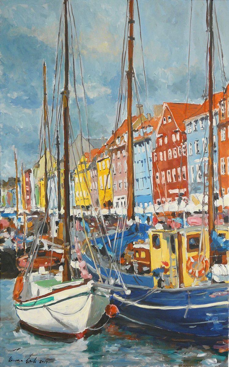Picturi maritime navale Port nordic 2