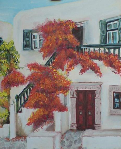 Picturi cu peisaje Mykonos house