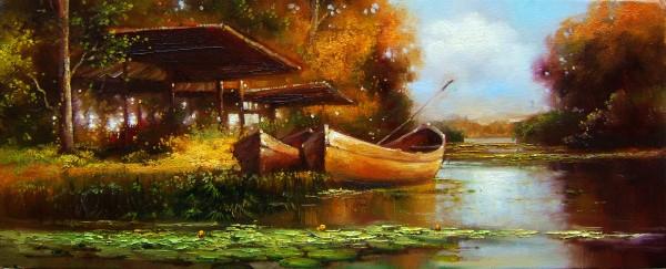 Picturi cu peisaje Pe bratul sulina
