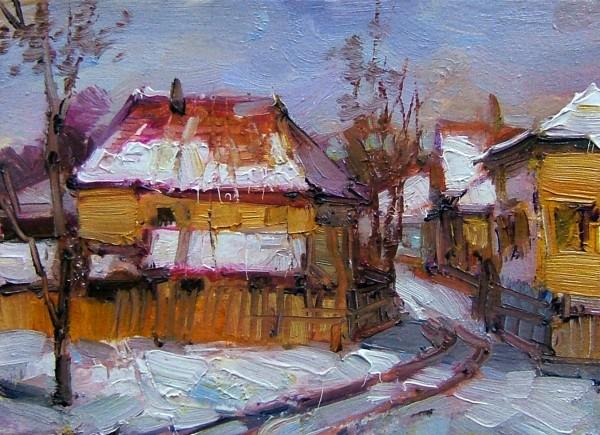 Picturi cu peisaje Sat romanesc 3