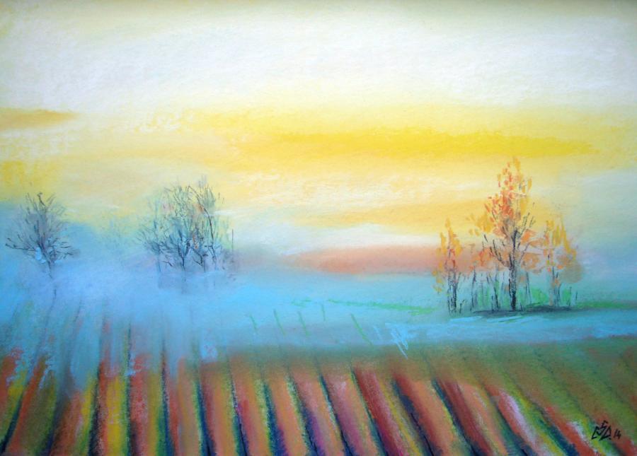 Picturi cu peisaje Fog 2