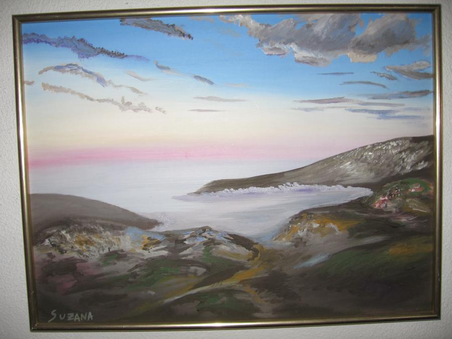Picturi cu peisaje Golf pe inserat