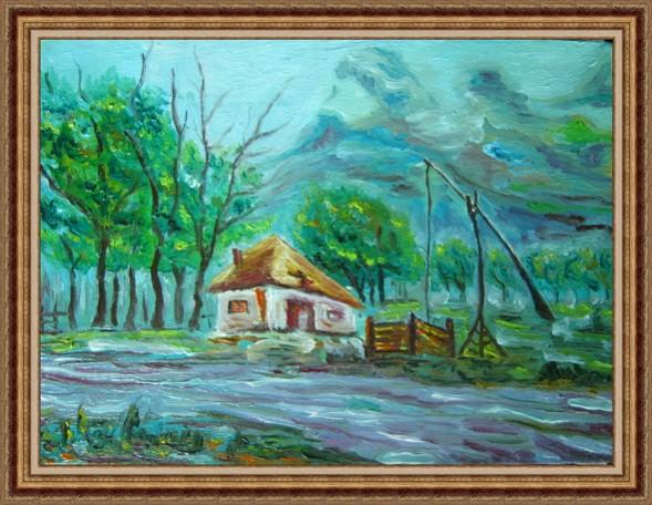 Picturi cu peisaje Fantana cu ciutura