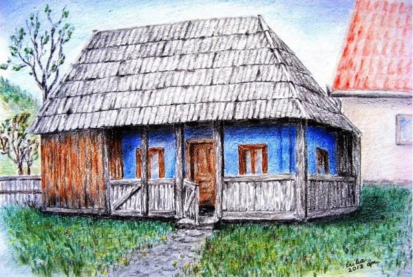 Picturi cu peisaje Casa cu sindrila