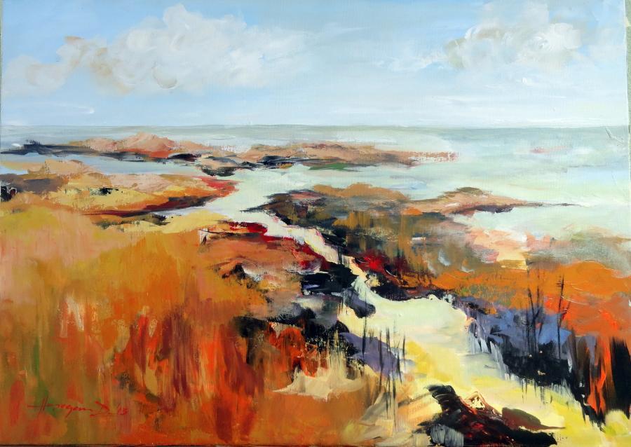 Picturi cu peisaje Revarsare in amurg