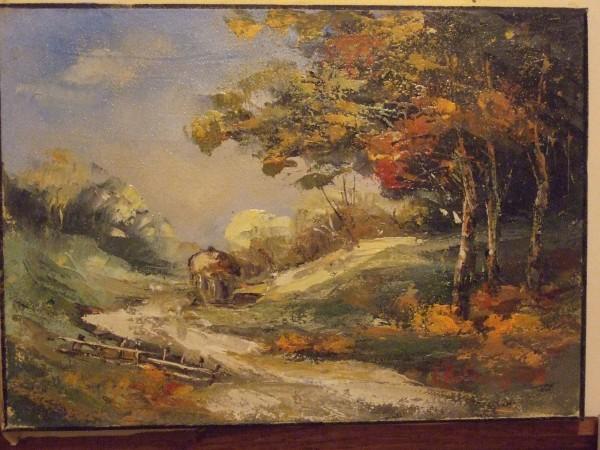 Picturi cu peisaje Toamna in padure