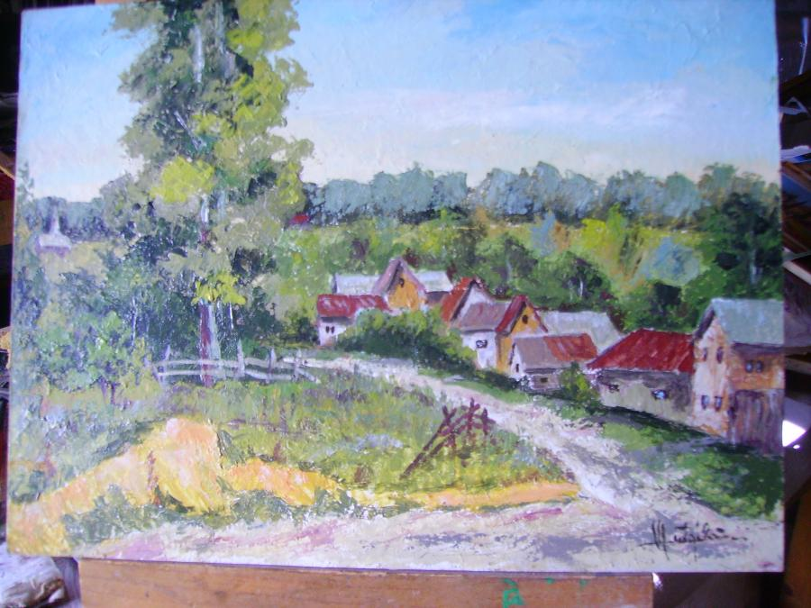 Picturi cu peisaje Ulita satului