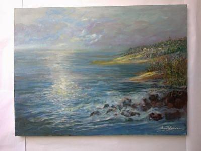 Picturi cu peisaje Rasarit la tarm de ion matasareanu