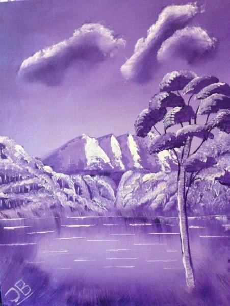 Picturi cu peisaje Purple wilderness