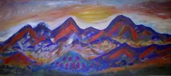Picturi cu peisaje Meses mid day