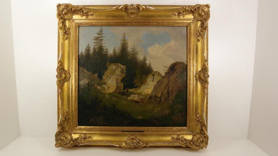 Picturi cu peisaje PEISAJ IN ALPI