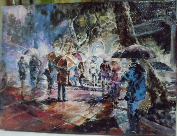 Picturi cu peisaje Statia de autobus