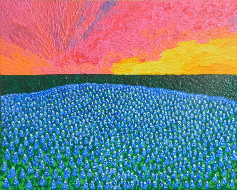 Picturi cu peisaje Peisaj cu flori de camp