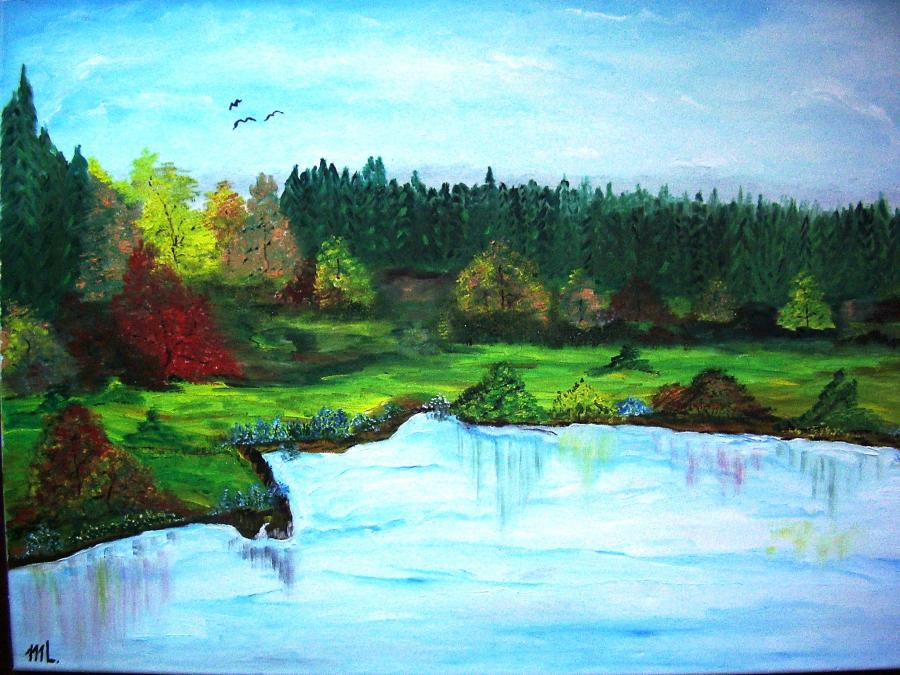 Picturi cu peisaje La poale de padure