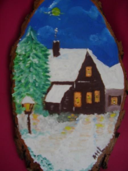 Picturi cu peisaje Noapte de iarna