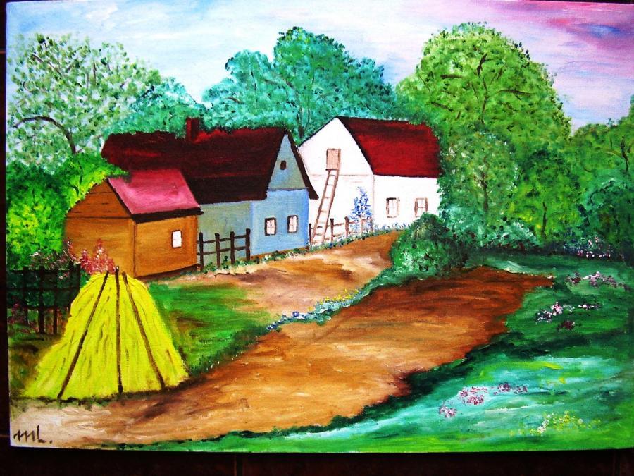 Picturi cu peisaje Ulita din sat