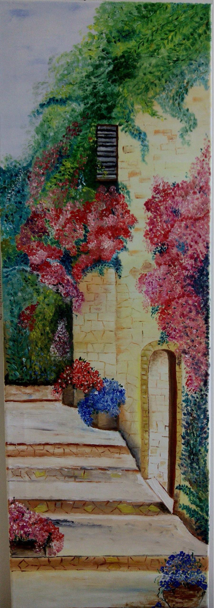 Picturi cu peisaje Ziduri si flori