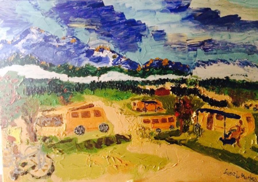 Picturi cu peisaje Camping