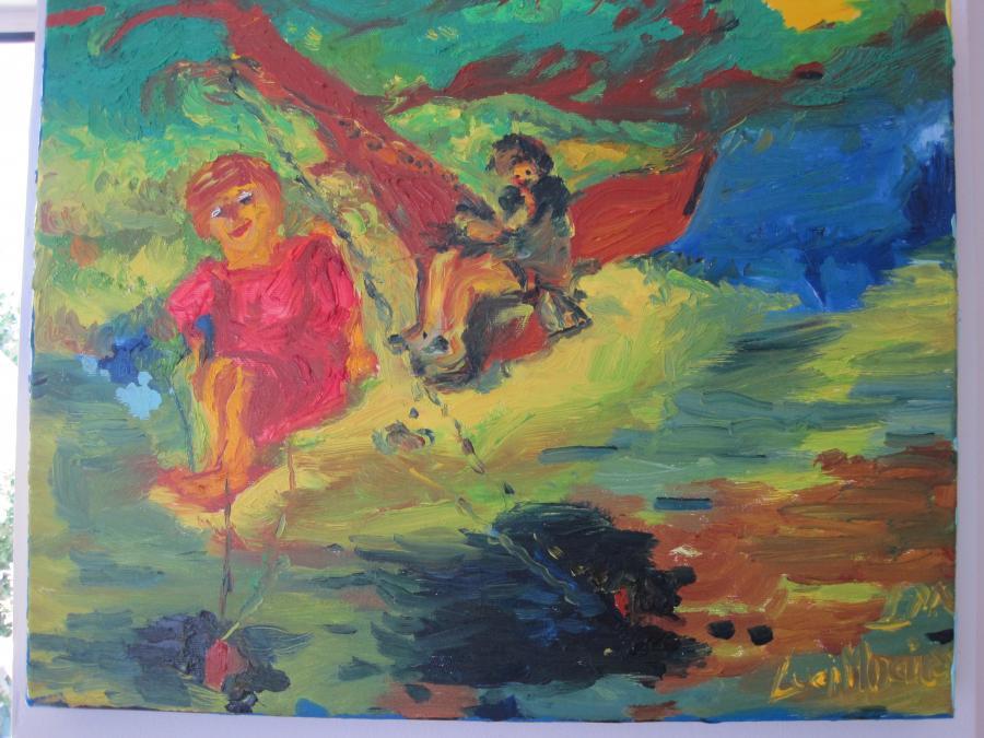 Picturi cu peisaje Pe seara, la pescuit
