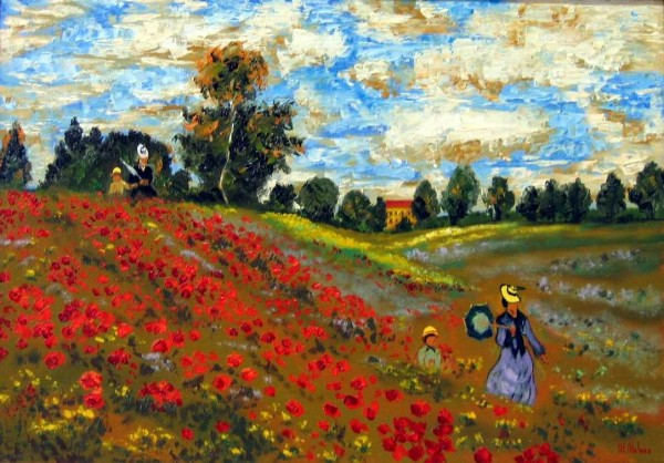 Picturi cu peisaje Macii salbatici