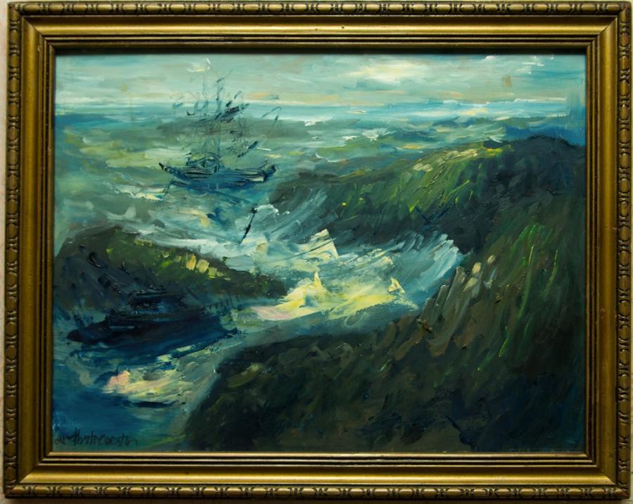 Picturi cu peisaje Barci pe mare