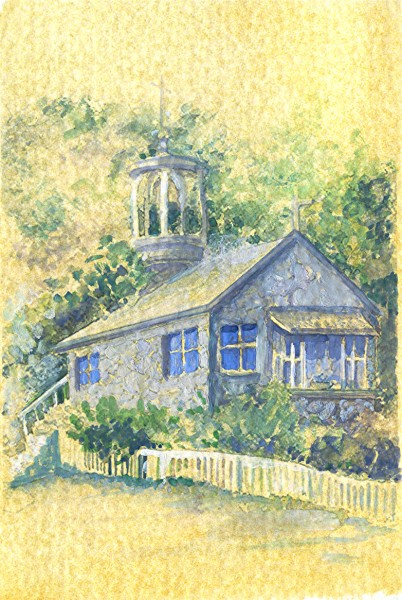 Picturi cu peisaje Biserica sat