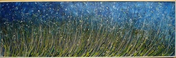 Picturi cu peisaje ,,primul viscol in iarba la marginea lacului de argint,,
