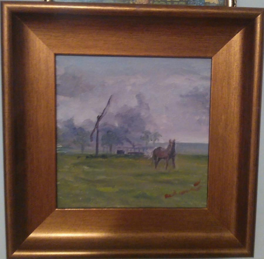 Picturi cu peisaje Alungat de furtună