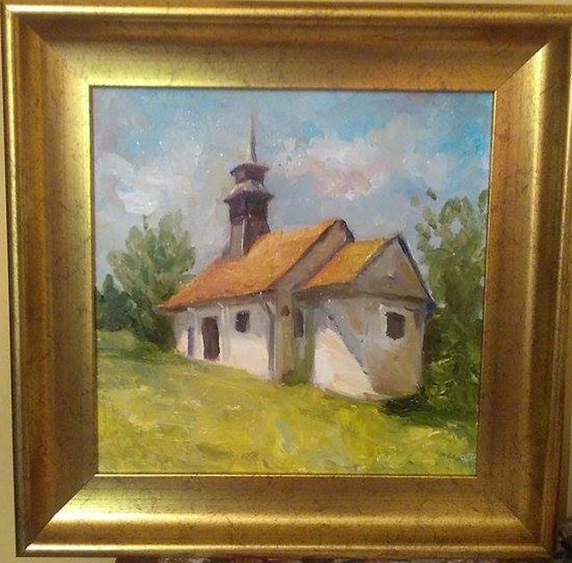 Picturi cu peisaje Biserica veche
