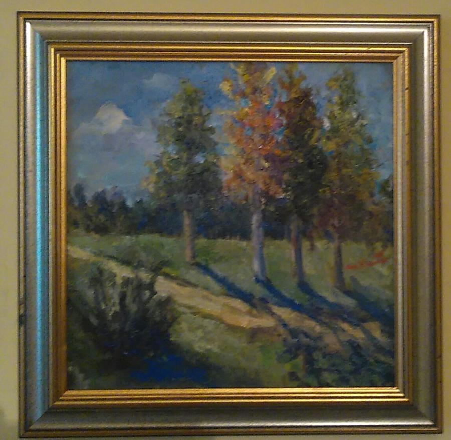 Picturi cu peisaje Cărarea toamnei