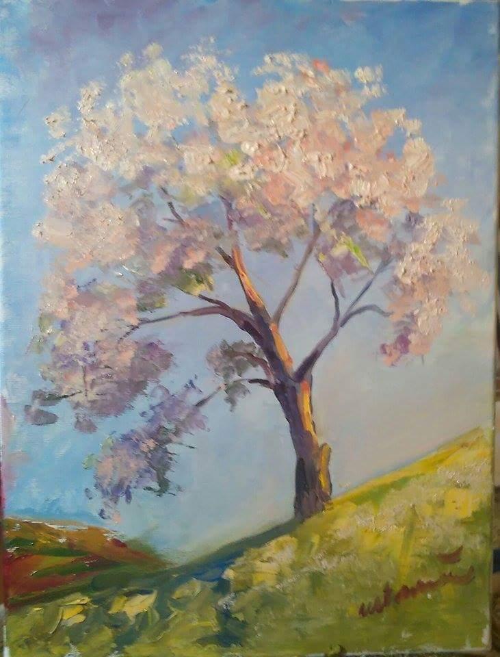 Picturi cu peisaje Înfloritul din deal