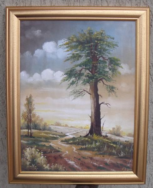 Picturi cu peisaje Copac la margine de drum